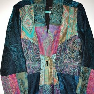 NWOT Soft Surroundings Patchwork Jacket Medium
